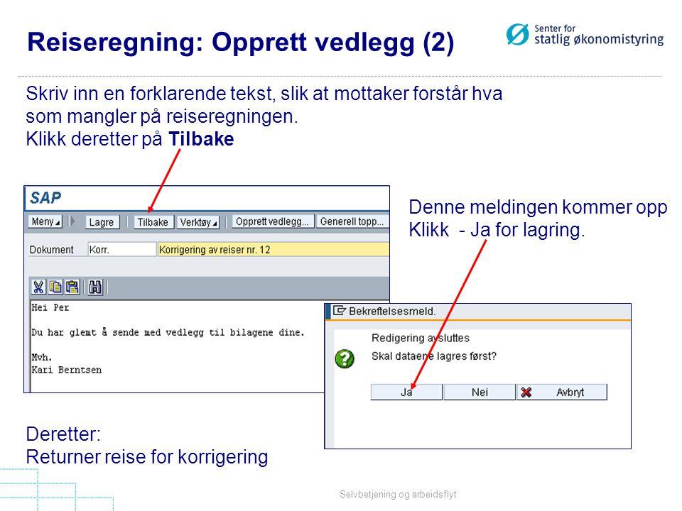 Reiseregning: Opprett vedlegg (2)