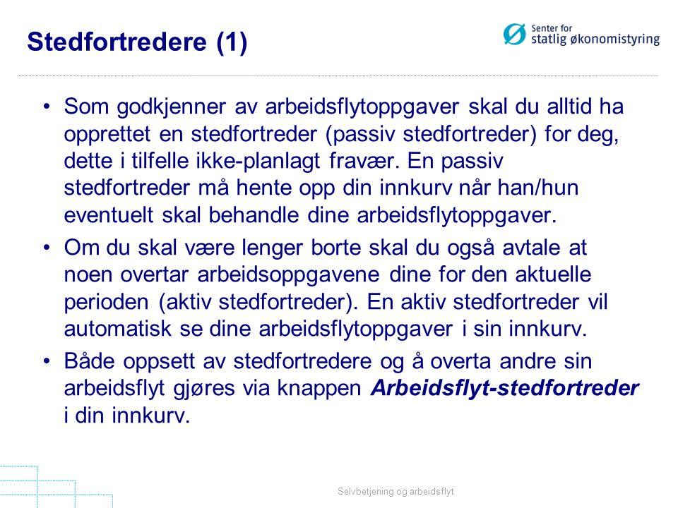 Stedfortredere (1)