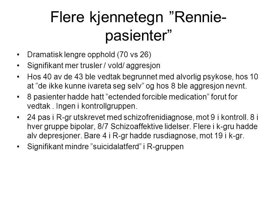 Flere kjennetegn Rennie-pasienter