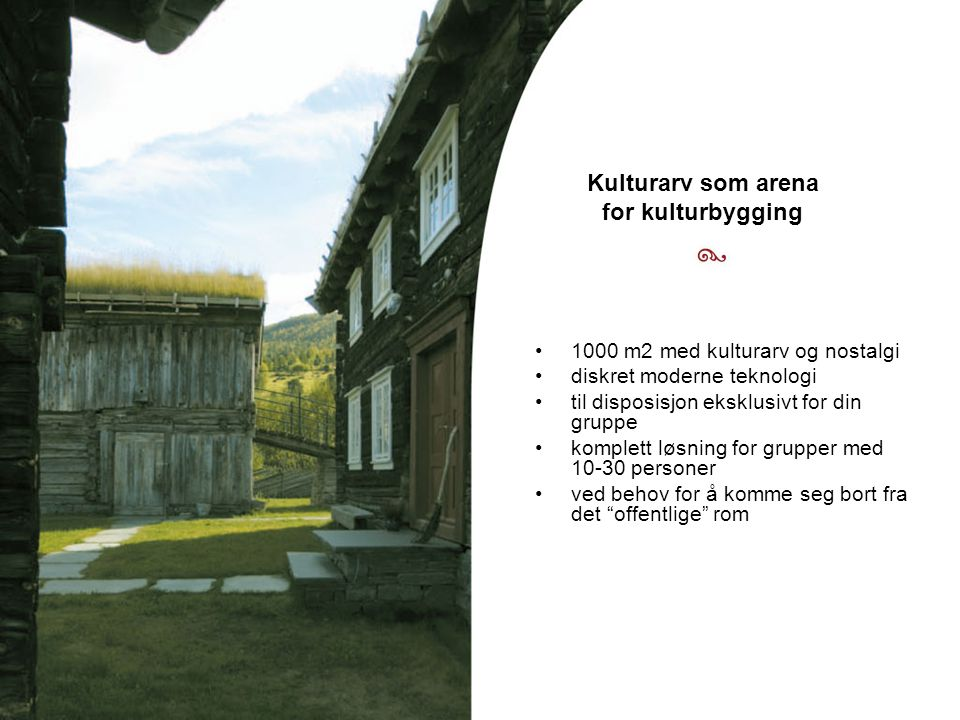 Kulturarv som arena for kulturbygging