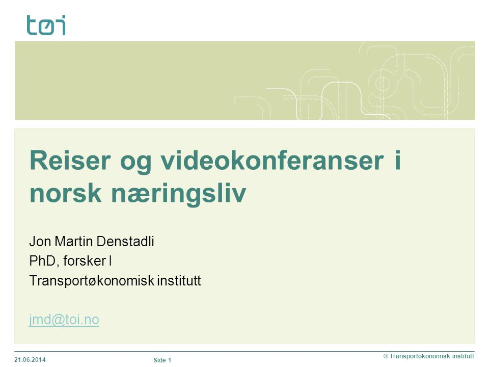 Reiser og videokonferanser i norsk næringsliv