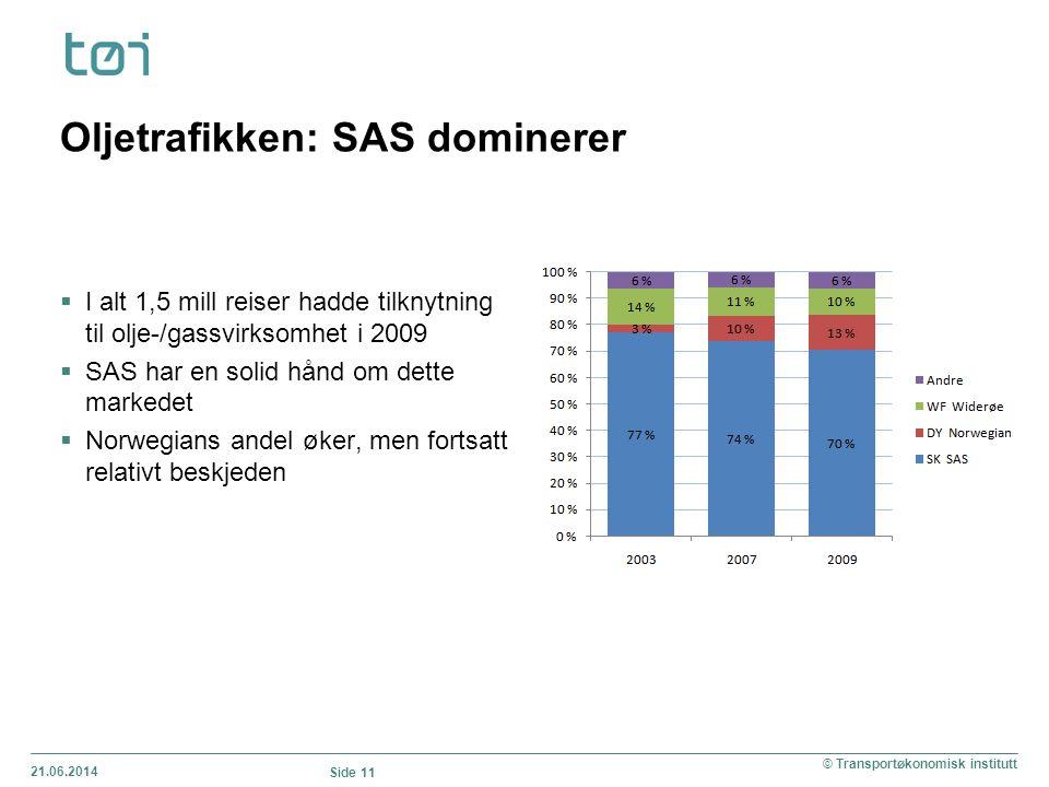 Oljetrafikken: SAS dominerer