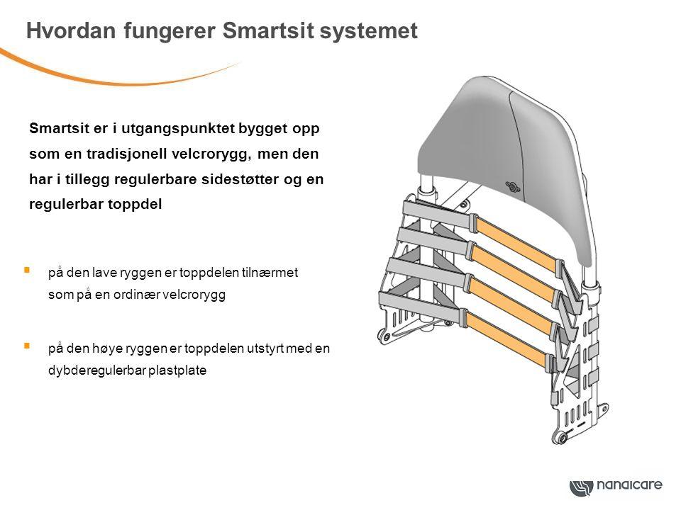 Tilpasse og regulere Smartsit ryggen