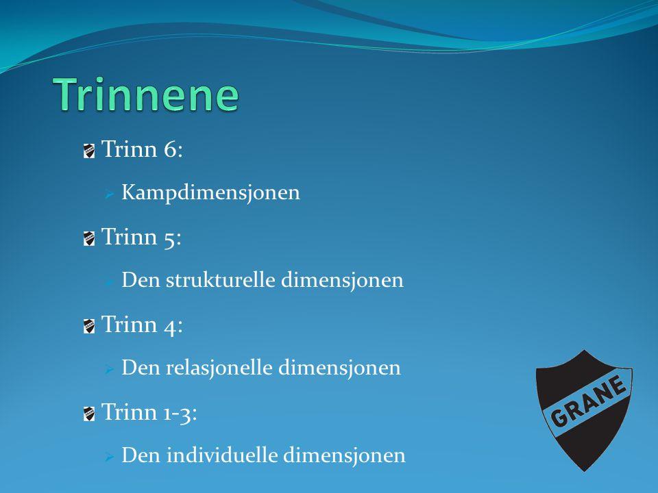 Trinnene Trinn 6: Trinn 5: Trinn 4: Trinn 1-3: Kampdimensjonen