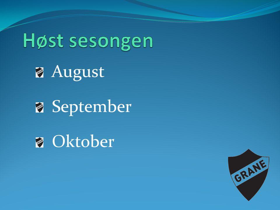 Høst sesongen August September Oktober