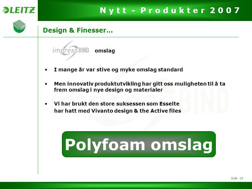 Polyfoam omslag Design & Finesser… omslag
