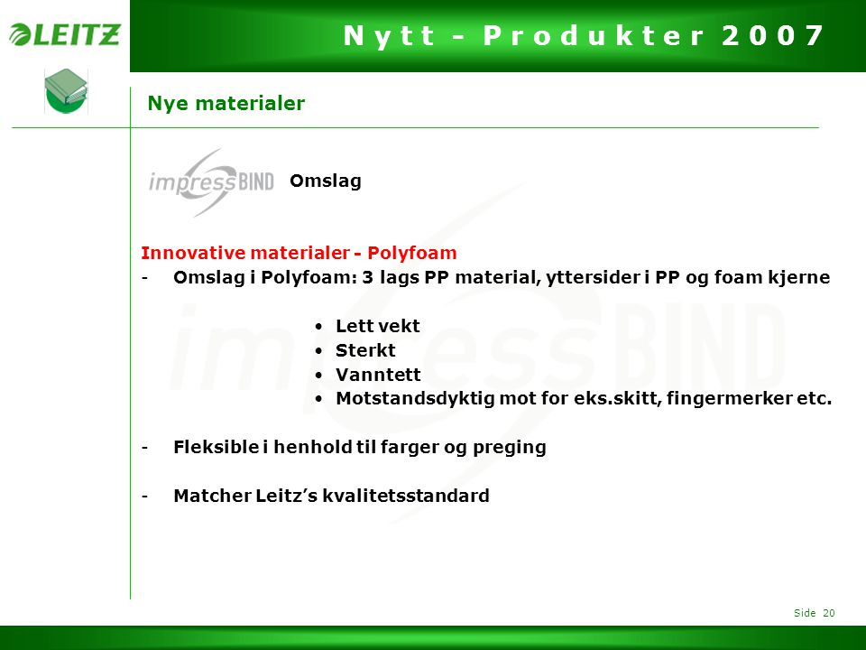 Nye materialer Omslag Innovative materialer - Polyfoam