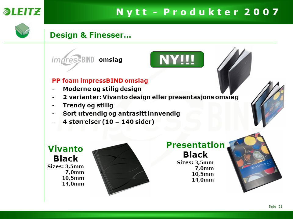 NY!!! Presentation Vivanto Black Black Design & Finesser… omslag