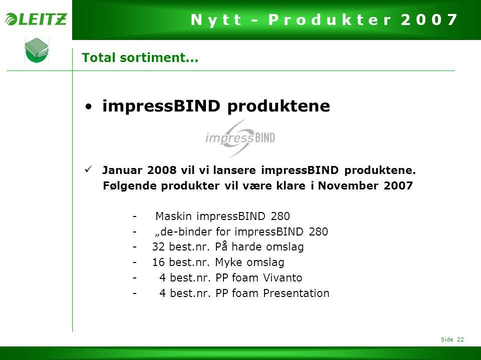 impressBIND produktene