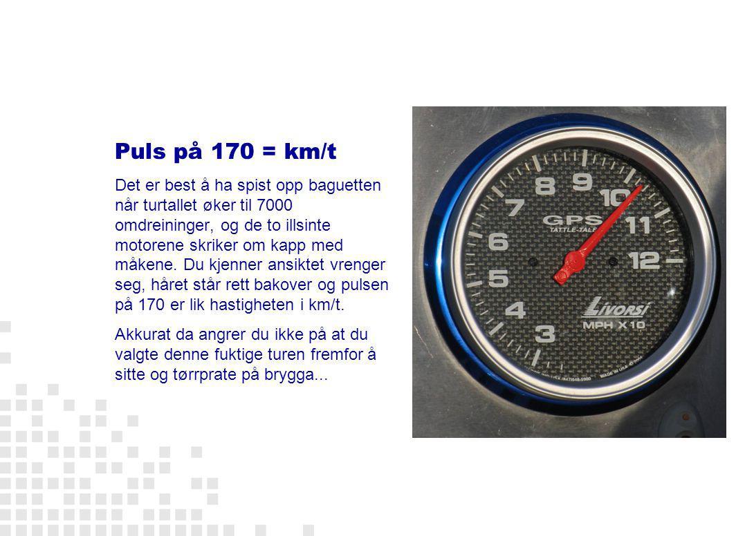 Puls på 170 = km/t