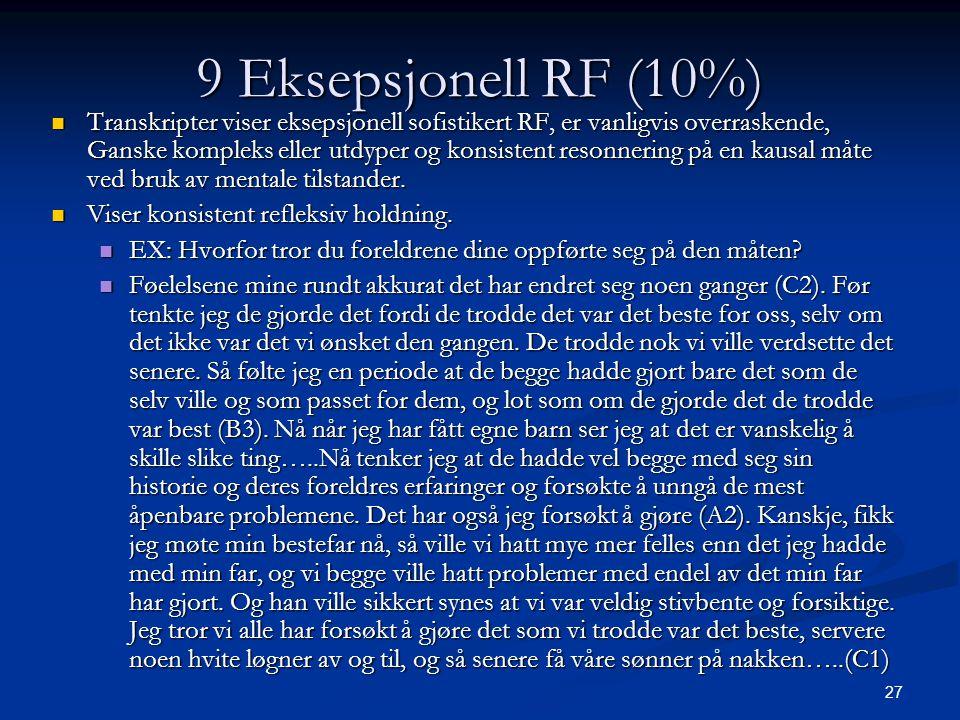 9 Eksepsjonell RF (10%)