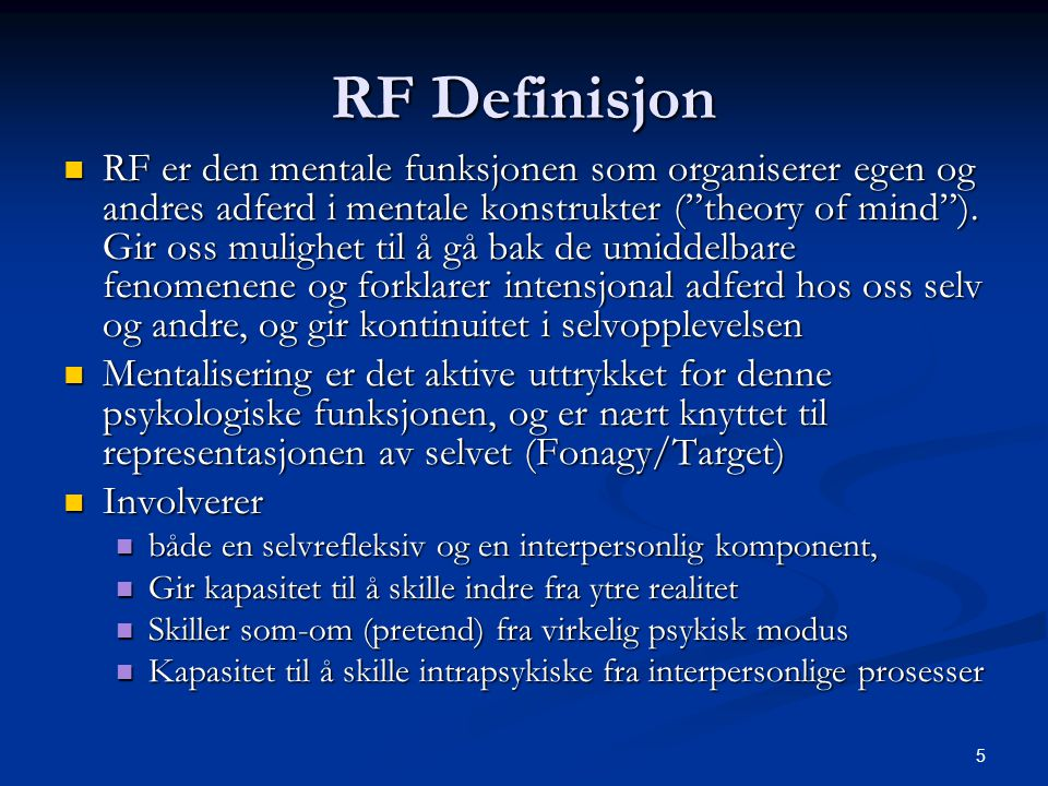RF Definisjon