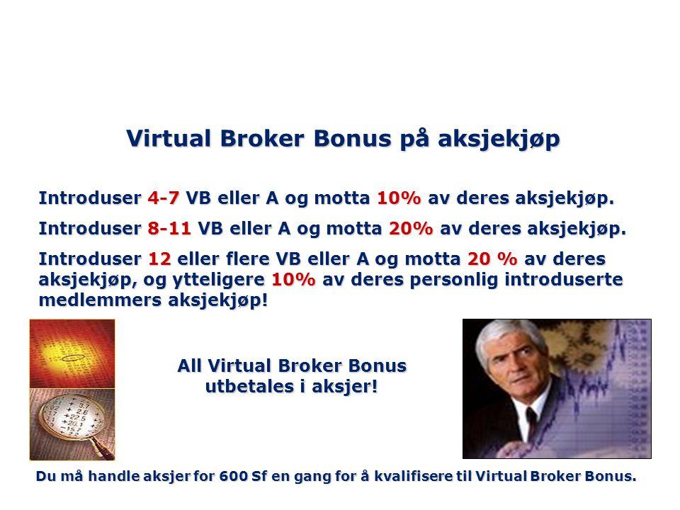Virtual Broker Bonus på aksjekjøp