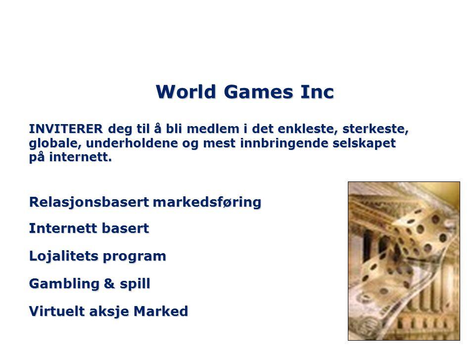 World Games Inc Relasjonsbasert markedsføring Internett basert