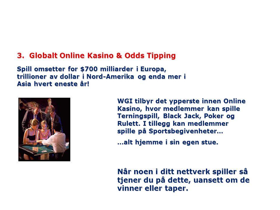 3. Globalt Online Kasino & Odds Tipping