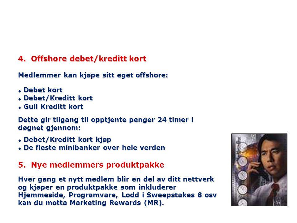4. Offshore debet/kreditt kort