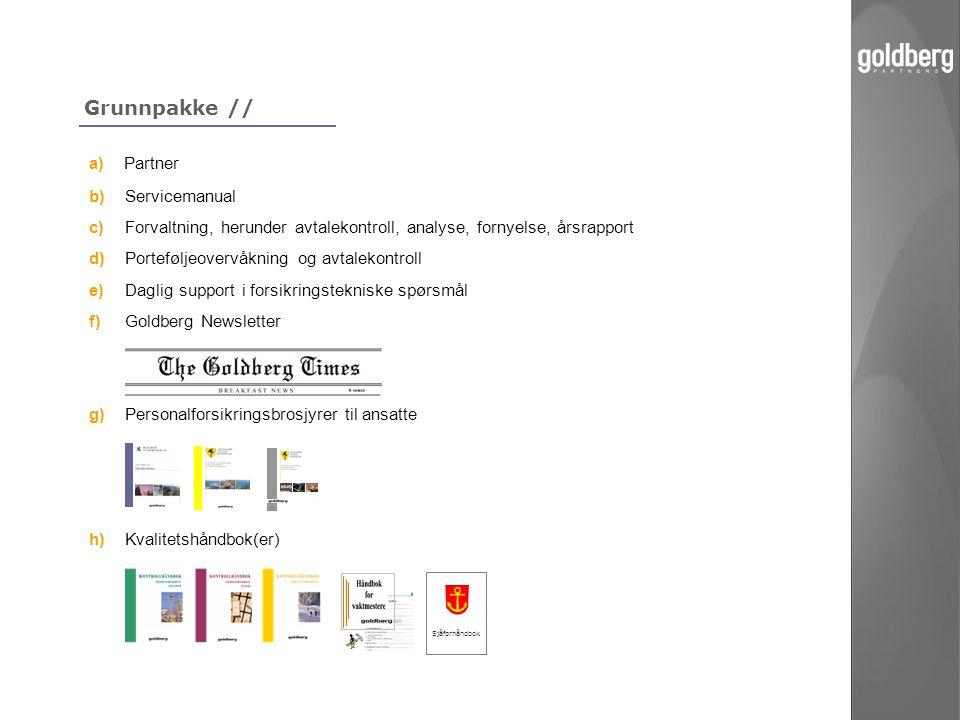 Grunnpakke // a) Partner b) Servicemanual