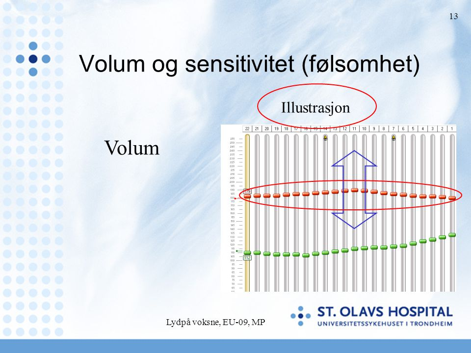 Volum og sensitivitet (følsomhet)