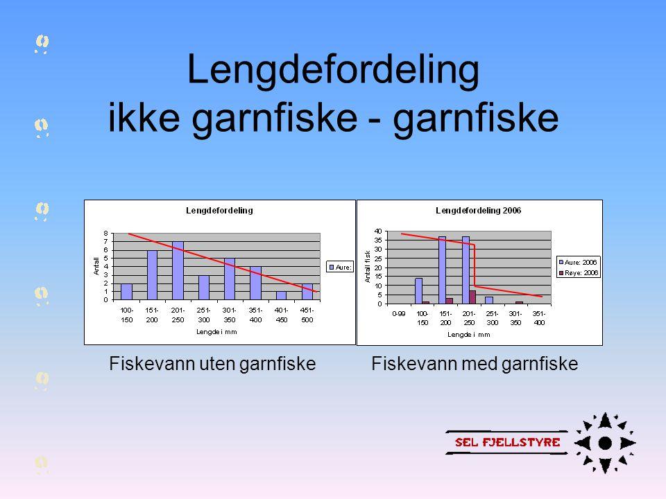 Lengdefordeling ikke garnfiske - garnfiske