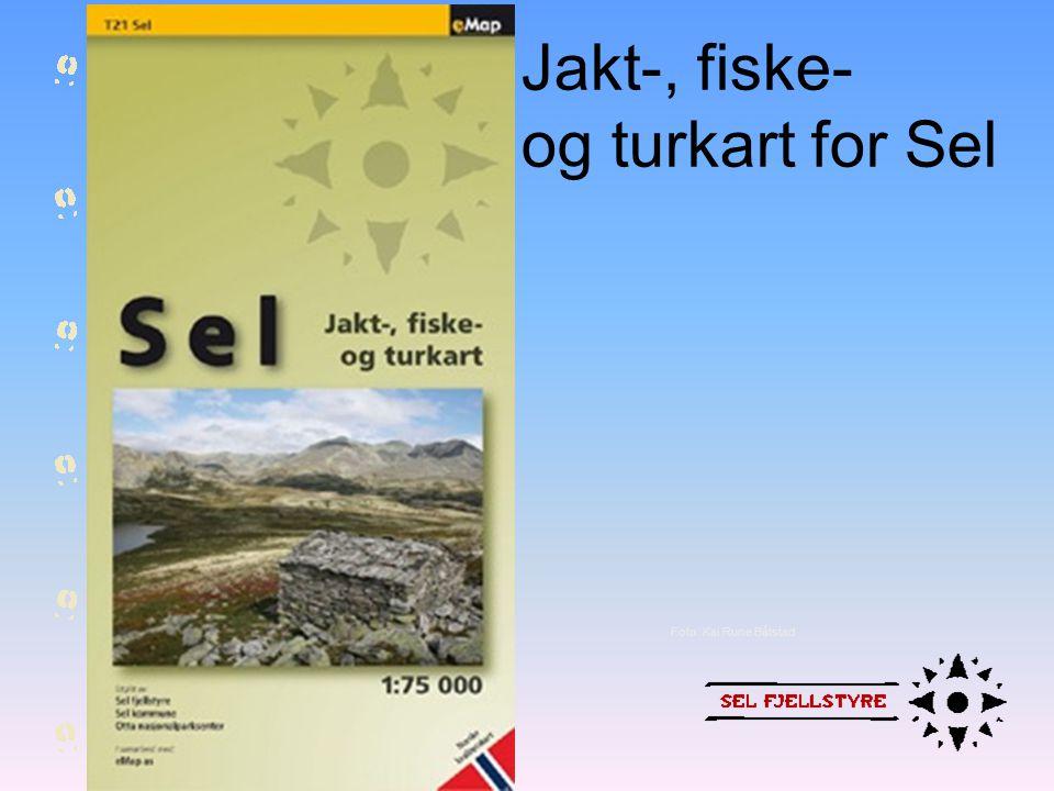 Jakt-, fiske- og turkart for Sel