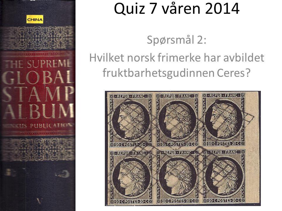 Hvilket norsk frimerke har avbildet fruktbarhetsgudinnen Ceres