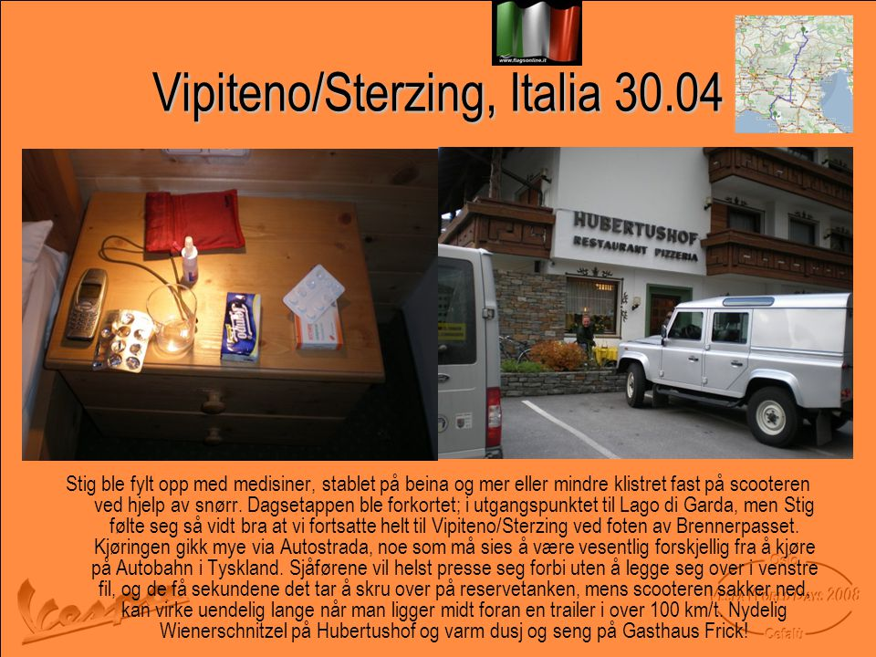 Vipiteno/Sterzing, Italia 30.04