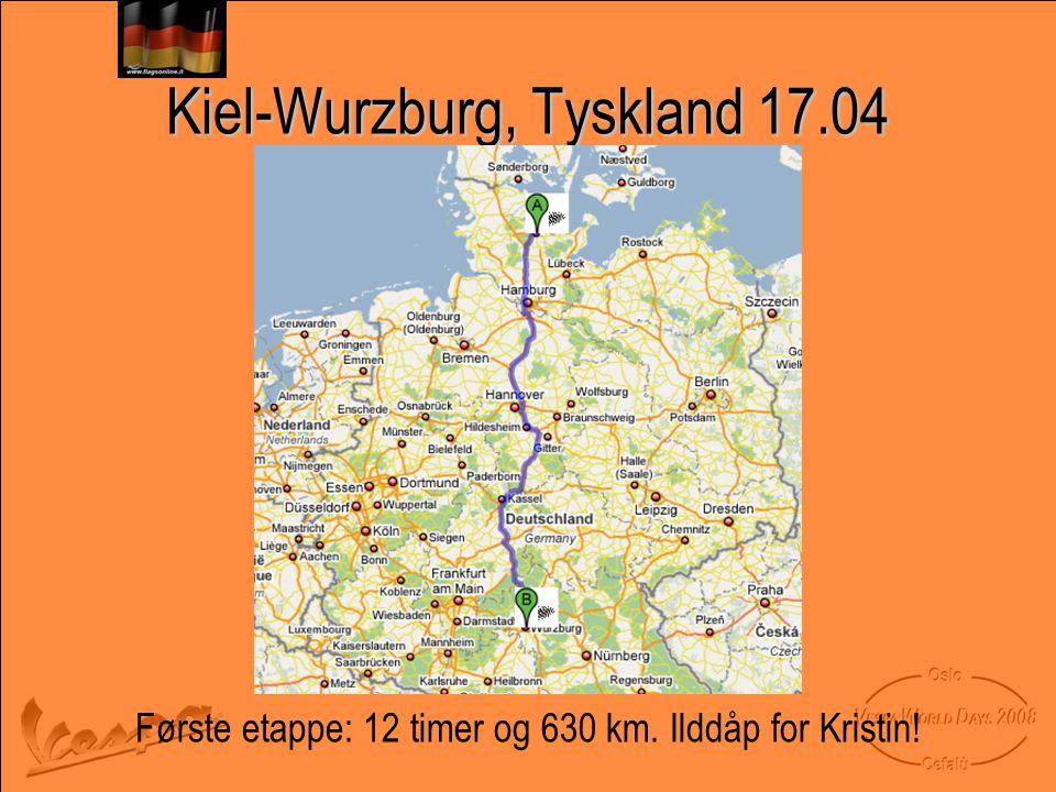 Kiel-Wurzburg, Tyskland 17.04
