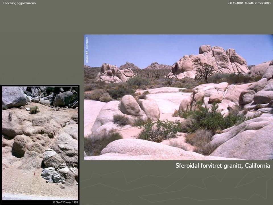 Sferoidal forvitret granitt, California