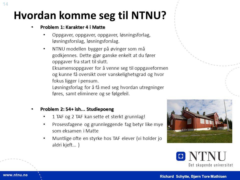 Hvordan komme seg til NTNU
