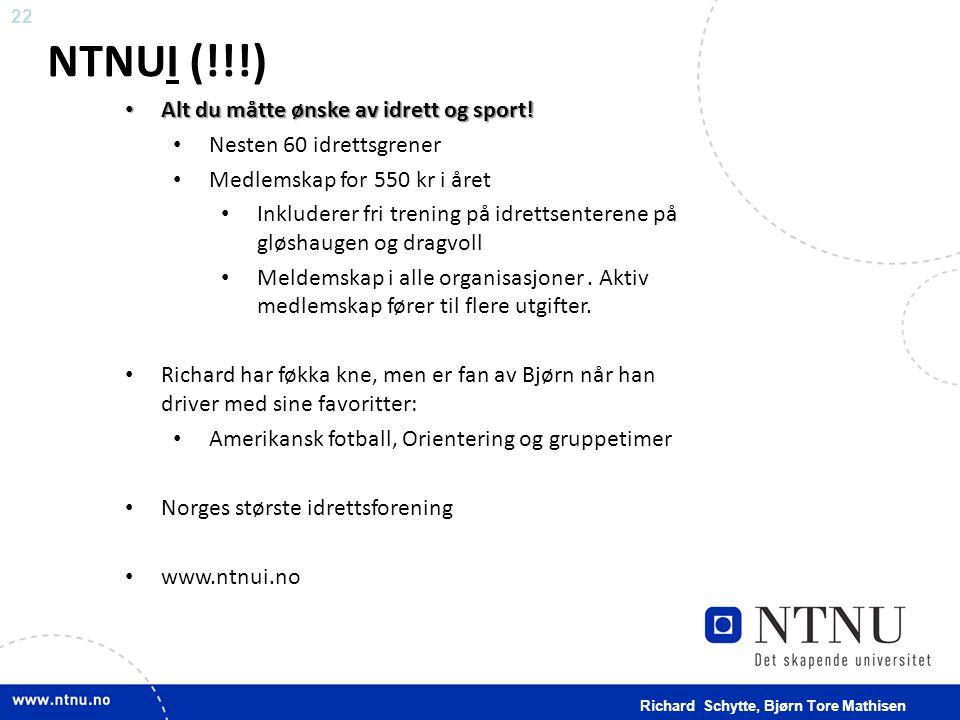NTNUI (!!!) Alt du måtte ønske av idrett og sport!