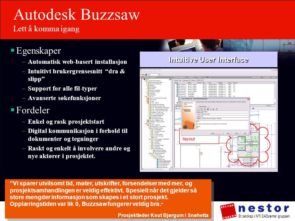 Autodesk Buzzsaw Lett å komma igang