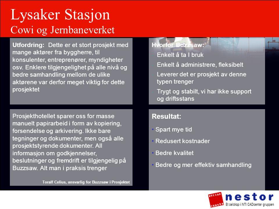 Lysaker Stasjon Cowi og Jernbaneverket