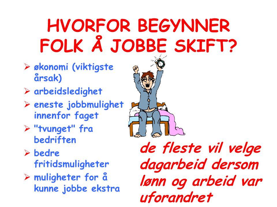HVORFOR BEGYNNER FOLK Å JOBBE SKIFT