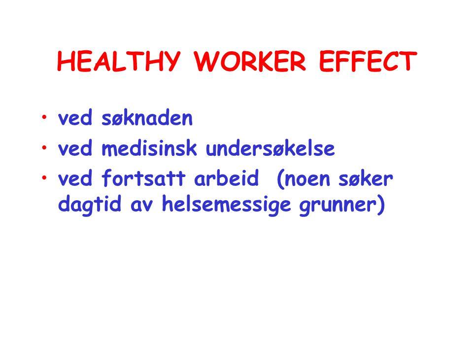 HEALTHY WORKER EFFECT ved søknaden ved medisinsk undersøkelse