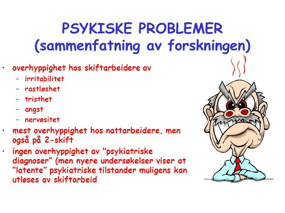 PSYKISKE PROBLEMER (sammenfatning av forskningen)