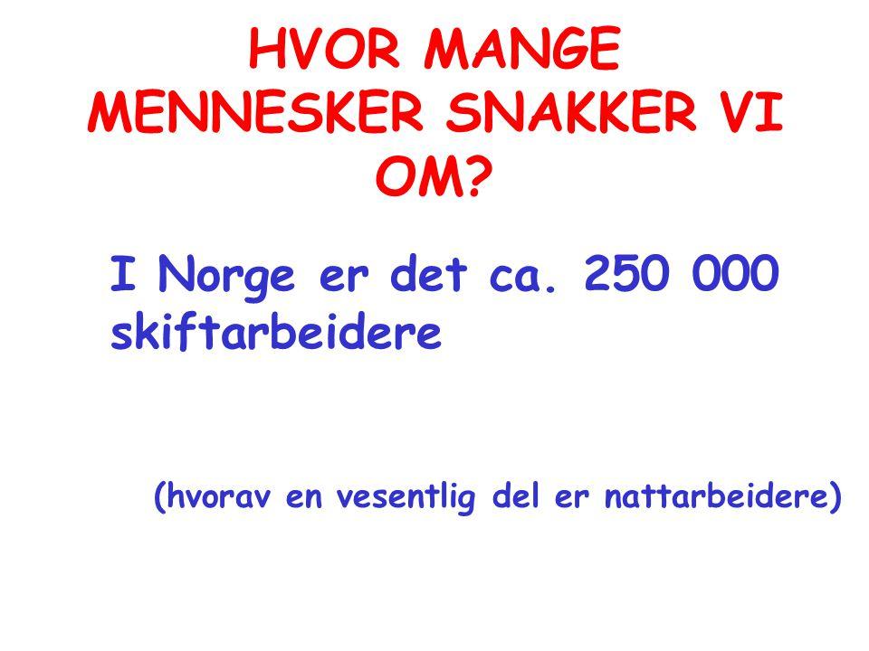 HVOR MANGE MENNESKER SNAKKER VI OM