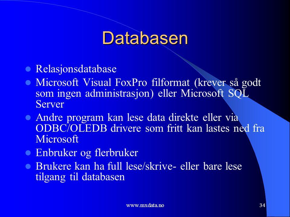 Databasen Relasjonsdatabase