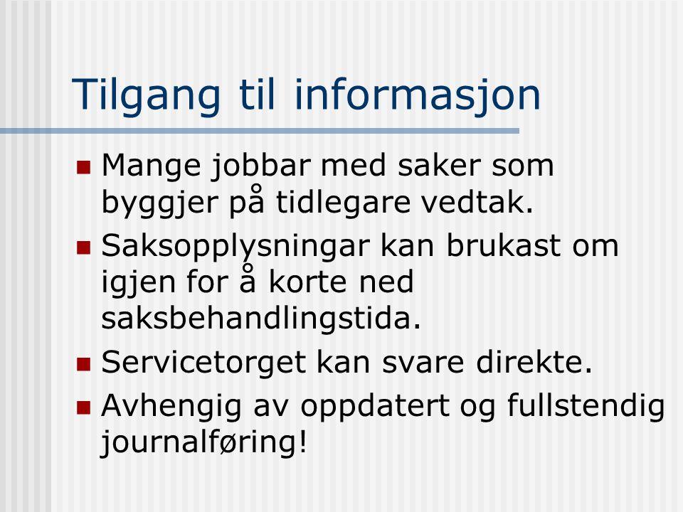 Tilgang til informasjon