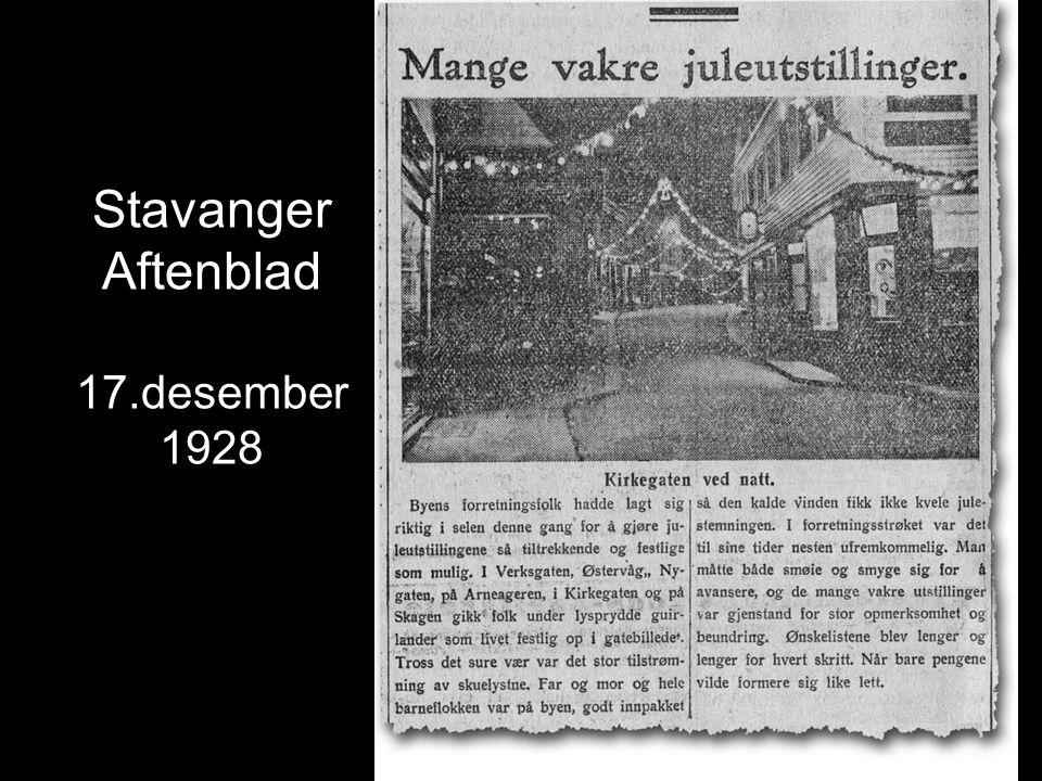 Stavanger Aftenblad 17.desember 1928