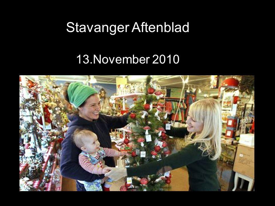 Stavanger Aftenblad 13.November 2010