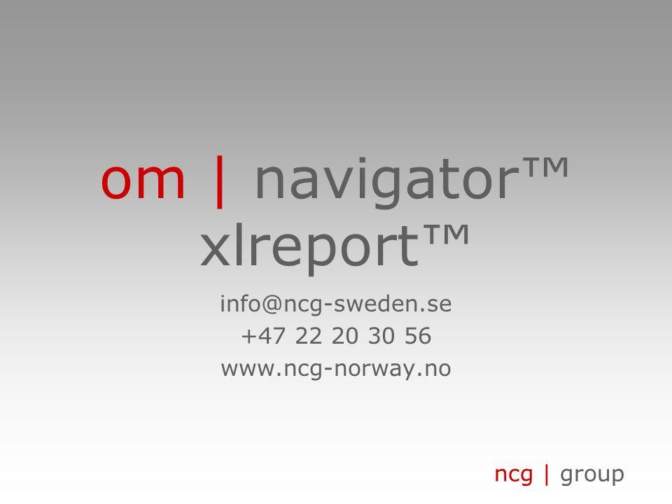 om | navigator™ xlreport™