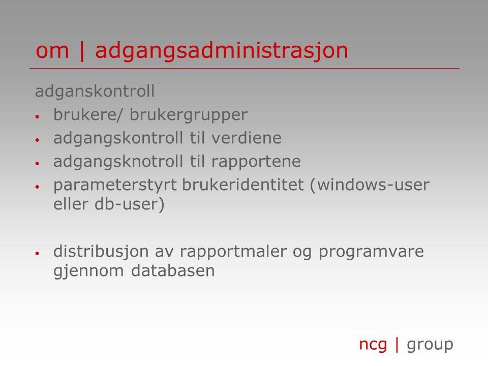 om | adgangsadministrasjon