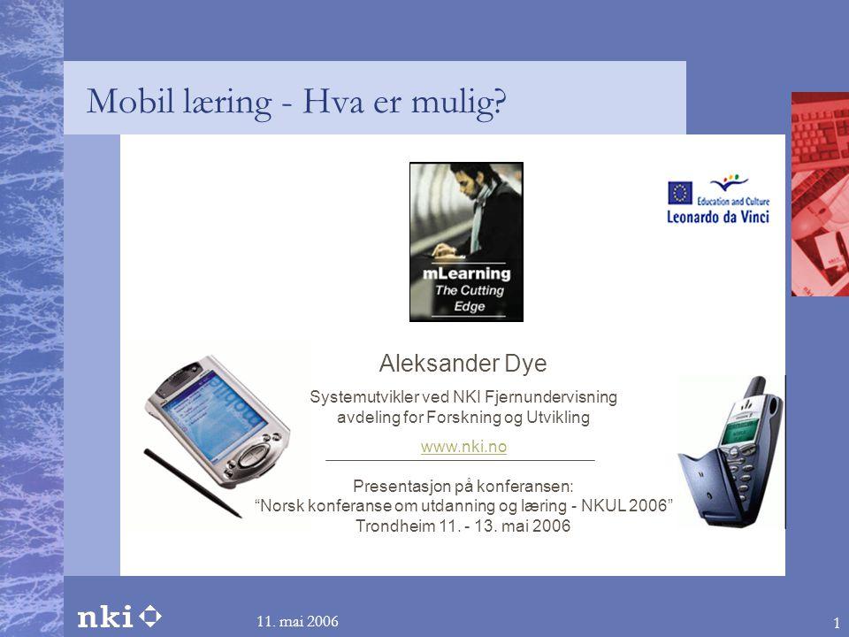 Mobil læring - Hva er mulig