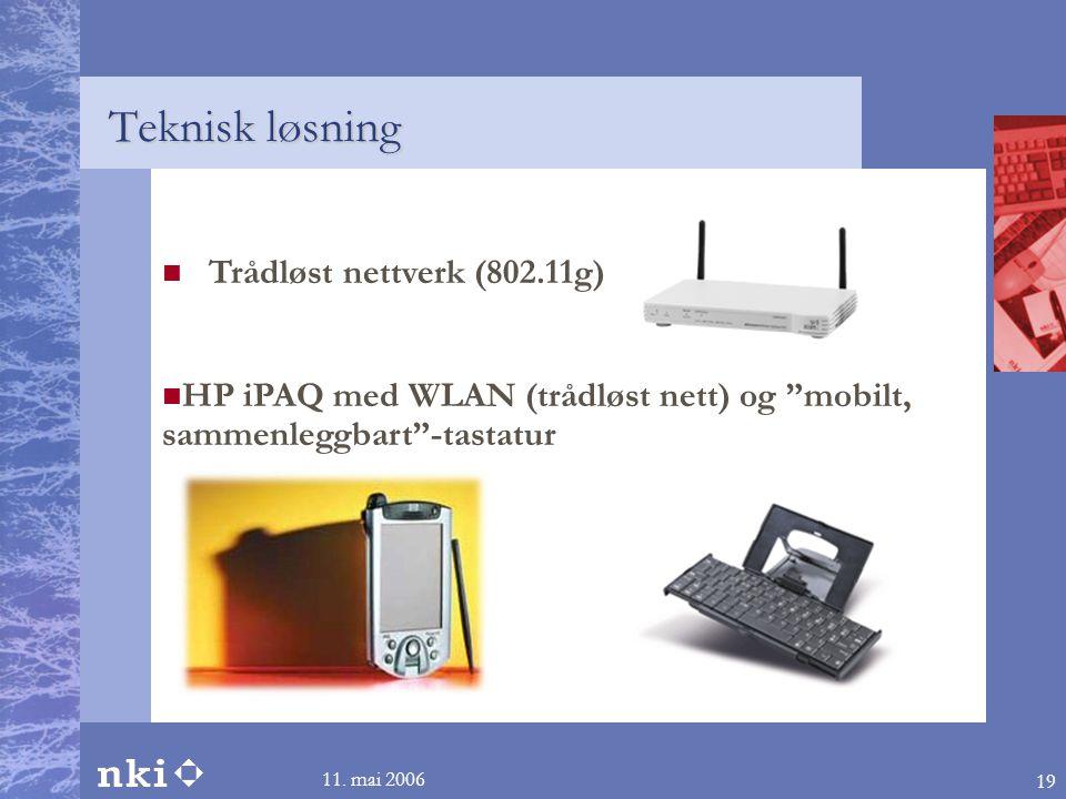 Teknisk løsning Trådløst nettverk (802.11g)