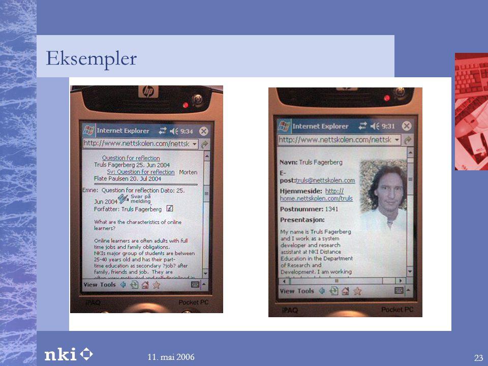 Eksempler 11. mai 2006