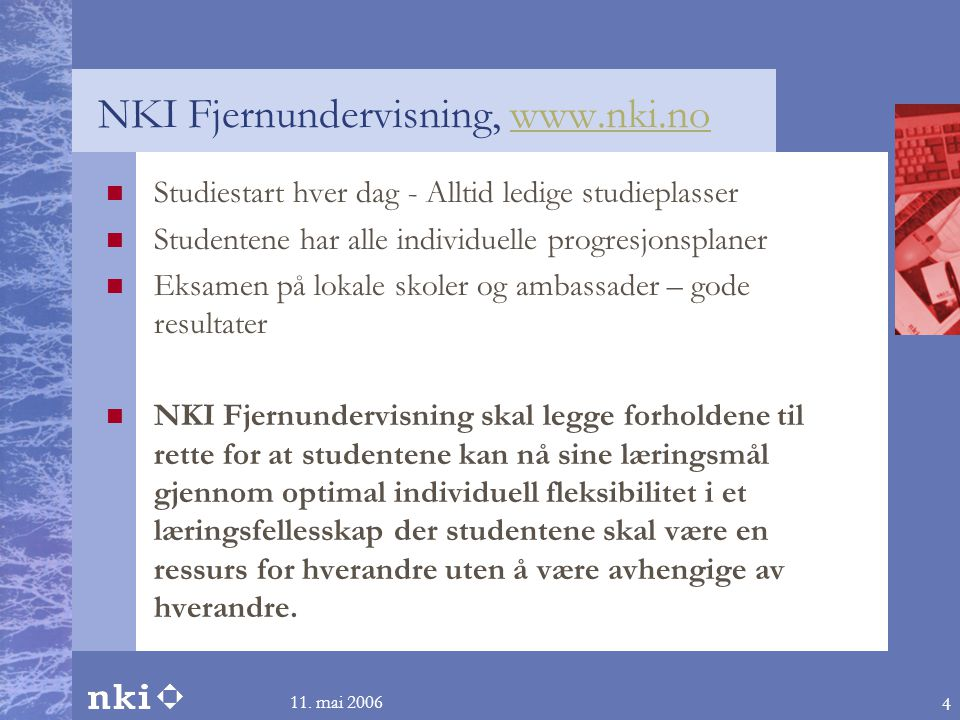 NKI Fjernundervisning, www.nki.no