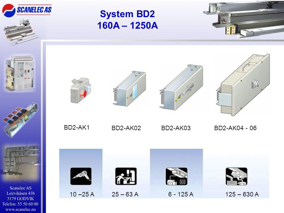 System BD2 160A – 1250A BD2-AK1 BD2-AK02 BD2-AK03 BD2-AK04 - 06