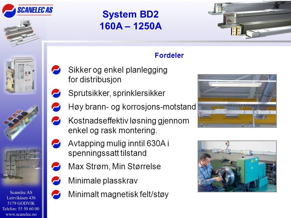 System BD2 160A – 1250A Sikker og enkel planlegging for distribusjon