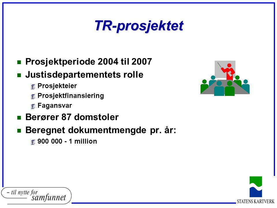TR-prosjektet Prosjektperiode 2004 til 2007 Justisdepartementets rolle
