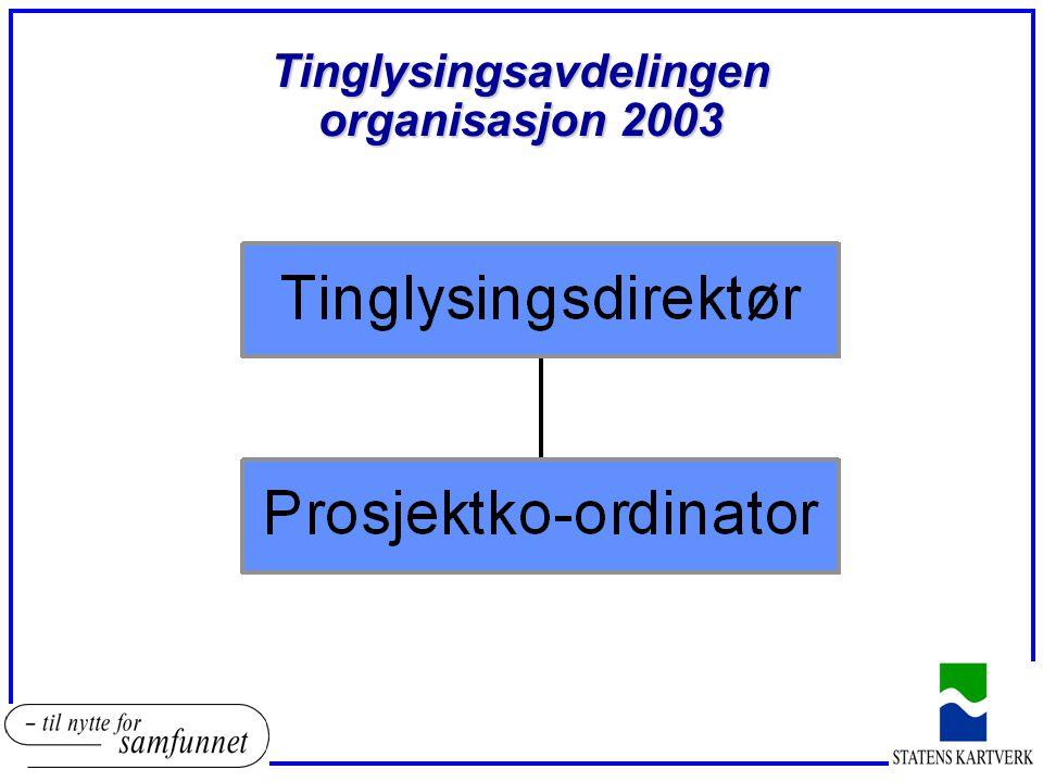 Tinglysingsavdelingen organisasjon 2003